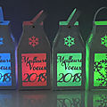 Lanternes decoratives lumineuses led RVB