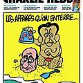 Les affaires qu'on enterre - par Charb - <b>Charlie</b> <b>Hebdo</b> N°944 - 21 juillet 2010