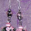 Boucles d'oreilles <b>perles</b> au chalumeau ou <b>lampwork</b>