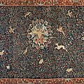 Exceptionnelle tapisserie Millefleurs ornée de trois blasons en laine et soie, <b>Bruges</b>, époque début du XVIe siècle