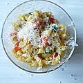 Le coquilletzoto aux légumes (et avec un peu de parmesan)