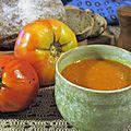 Soupe de tomates anciennes aux lentilles corails
