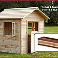 Dans ma <b>cabane</b> en bois...