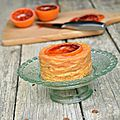 Gateau de crêpes d'épeautre à l'<b>orange</b> sanguine - Battle food #15