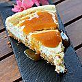 Cheesecake et son coulis de nectarine...