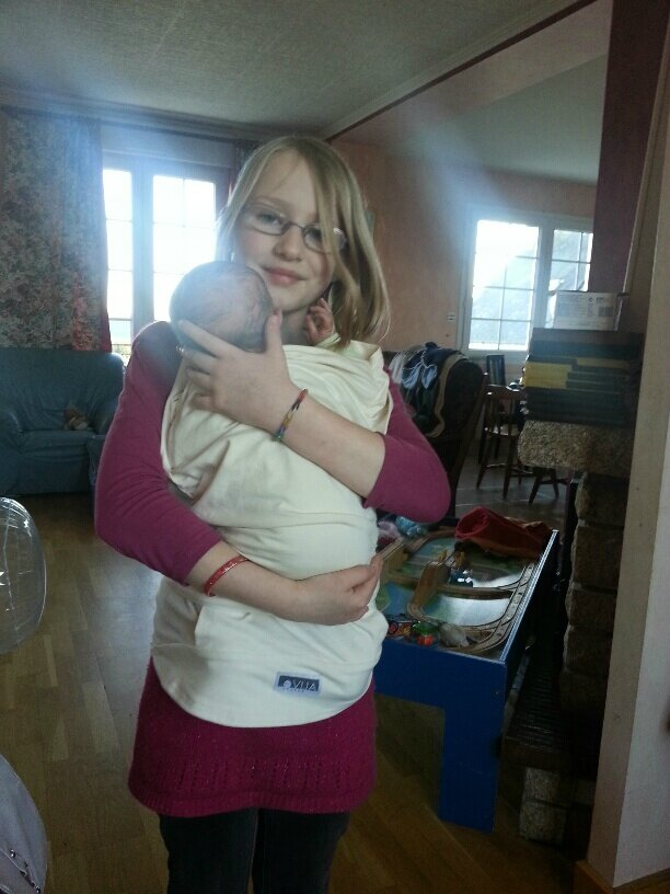 T shirt peau peau allaitement et portage famille - Rever de porter un bebe dans les bras ...