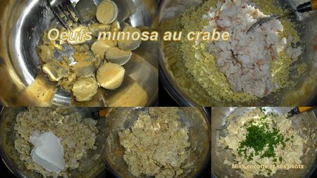oeufs mimosa au crabe