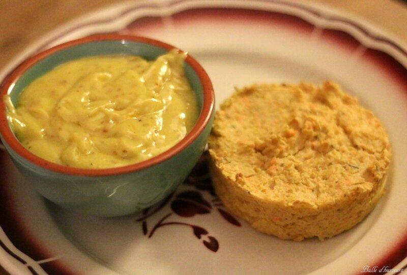 #8 galettes végétariennes pois chiches, oignons et sauce aïoli