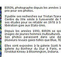 Save the date : Biron expose ses