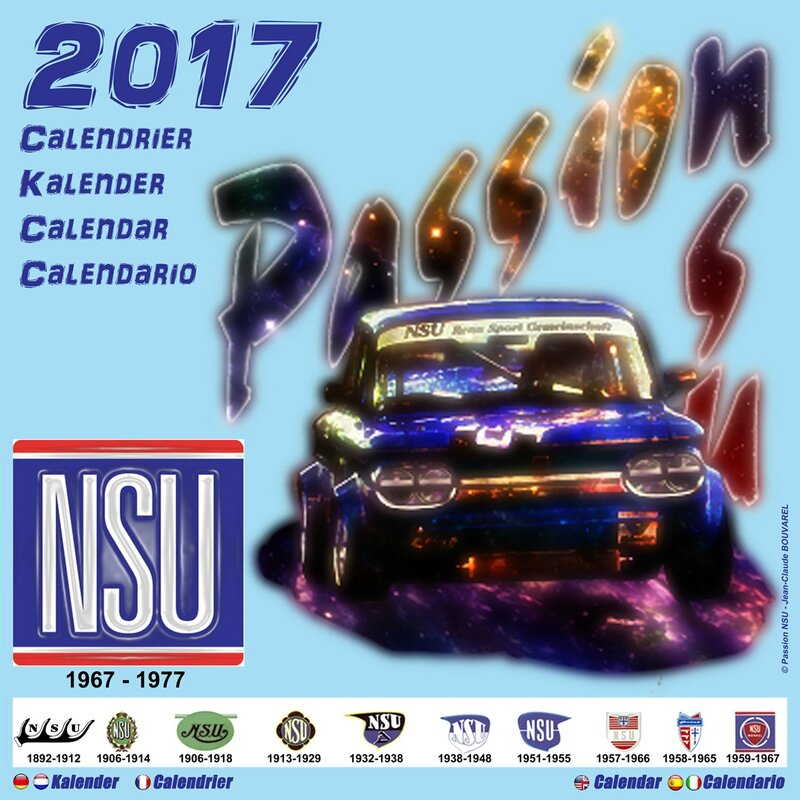 F 1 - Page 01 - 2017-CALENDRIER NSU (22 x 22 cm) Couverture