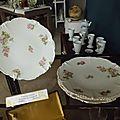4 assiettes à <b>dessert</b> en porcelaine de Limoges J.P. (1890-1932)