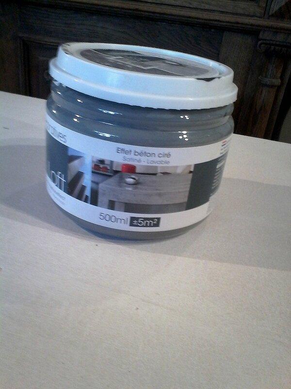 Ma bulle a test l effet b ton cir r veillez vos meubles - Les decoratives com loft beton cire ...