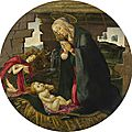 Alessandro di Mariano Filipepi, called Botticelli, and Studio, The <b>Madonna</b> and Child with Saint John the Baptist