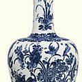 A large Dutch Delft <b>blue</b> and white bottle vase, circa 1700