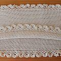Snood au crochet finition dentelle