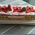 Mille feuille aux fraises