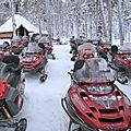 Laponie: moto-neige, <b>chiens</b> de <b>traneau</b>, et autres activits