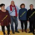 Les candidats du <b>Front</b> de <b>Gauche</b> du canton de St Astier