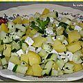 Salade de pommes de terre, concombre noa et <b>feta</b>