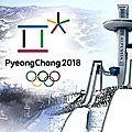 Jeux Olympiques 2018 . PyeongChang - <b>Corée</b> du <b>sud</b> (mise à jour)