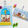 Happy mail ~ diy cartes postales à <b>paillettes</b>