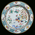 A large enamelled copper plate, China, Qing Dynasty, <b>Yongzheng</b> <b>Period</b> (1723-1735)