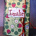 Libreta con fresas / Carnet 