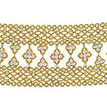 Van Cleef and Arpels (CO.). A Diamond and Gold <b>Bracelet</b>, 1972