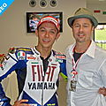 Brad Pitt invite Valentino Rossi  Miraval!
