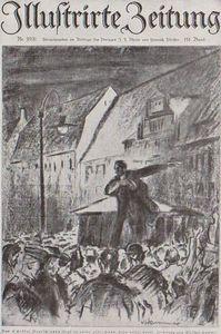 L'Illustrirte Zeitung Illustration Le'Grand Soir' en Allemagne