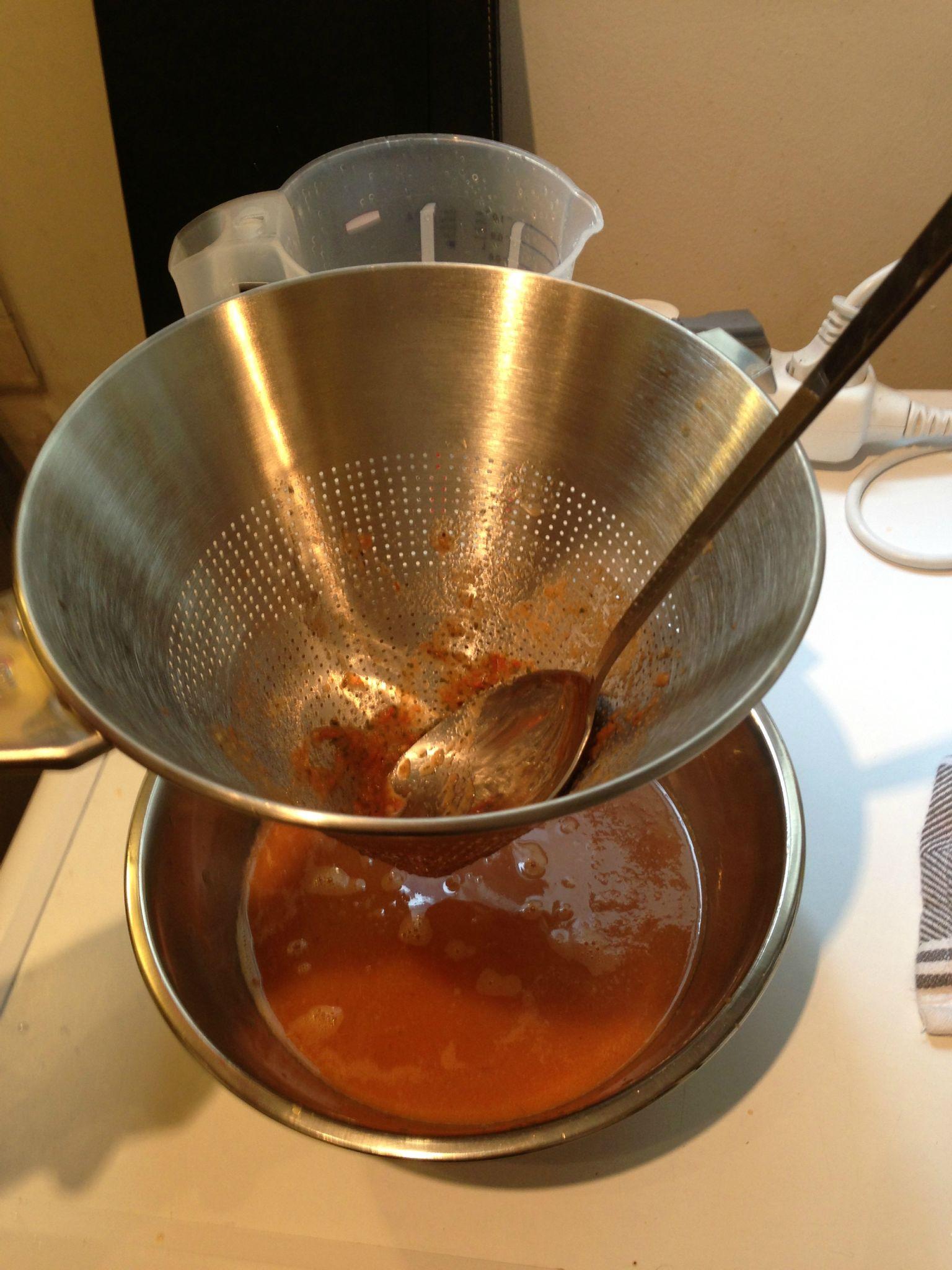 Espuma de tomate sur cr me de poireaux larobeetlefouet for Un chinois cuisine