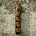 Paille à spirales <b>orange</b> et noire