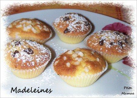 recettes dessert  Madeleines sans moule à madeleines