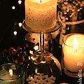 <b>Déco</b> de Table de Noël avec un Verre à Pied #2