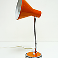 Vintage ... Lampe de bureau 70's * Orange
