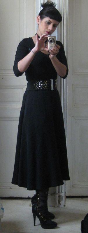jupe longue noire h&m