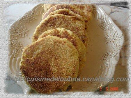 recettes dessert  Harchas ( galettes de semoule au beurre marocaine )