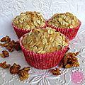 Des muffins pour le <b>petit</b>-<b>déjeuner</b> - Poires-flocons d'avoine