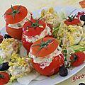 œufs et tomates mimosa