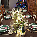 TABLE DE NOEL SUR LE THEME DE LA <b>FORET</b>