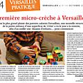 Mes articles dans Versailles Plus