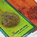 Deux cartes de Noël, une page d'AJ et un tablier customisé / Festive cards, <b>Art</b> <b>journal</b> spread, and apron...