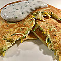 Blinis de courgette sauce <b>fromage</b> <b>blanc</b>