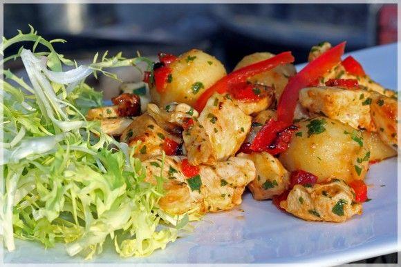 recettes  Salade de gnocchi au poulet.... sur un air dItalie