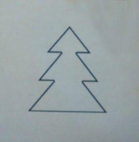D coration de no l en papier de scrapbooking papiers - Modele sapin de noel en papier ...