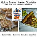 Quiche au <b>saumon</b> <b>fumé</b> et ciboulette