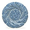 A large pair of blue and white <b>spiral</b>-molded dishes, Kangxi period (1662-1722)
