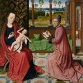 Export bar placed on Dieric Bouts' St Luke <b>Drawing</b> the Virgin and Child