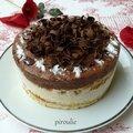 Entremets avec <b>crème</b> <b>mousseline</b> au citron et mousse au chocolat pour Pessah sans farine ni gluten