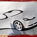 redwork et autres broderies du lundi : voiture stylisée